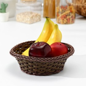 A fruit basket and bread