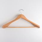 Вешалка-плечики для одежды с перекладиной, размер 44-46, массивные плечики, дерево