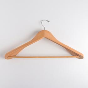Вешалка-плечики для одежды с перекладиной MIOLLA, размер 44-46, массивные плечики, дерево