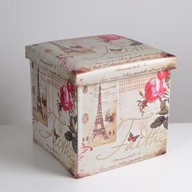 Пуф-короб для хранения «Париж», 38×38×38 см