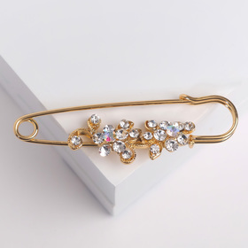 Pin Blossoms, 7cm, color iridescent gold