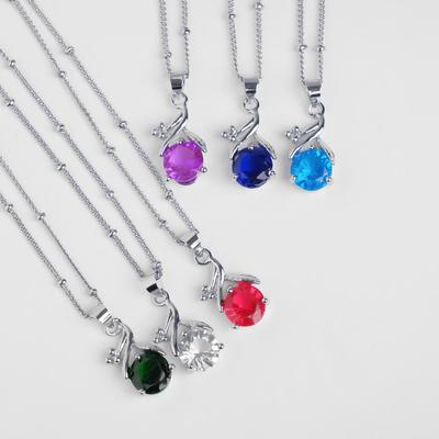 """Pendant cuts """"moon prism"""" bow on top, MIX color, 45-cm"""
