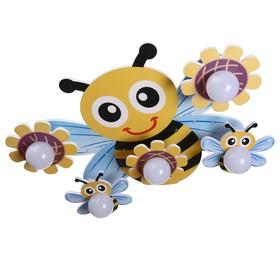 "Люстра ""Пчелка"" 5х40Вт E27+32хLed подсветка 67х45х19 см."