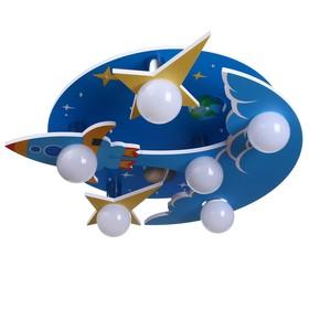 """Люстра """"Космос"""" 6х40Вт E27+30хLed подсветка 58х58х27 см."""