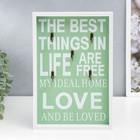 """Крючки декоративные дерево """"Мой идеальный дом"""" бело-зелёный 30х20,2х3 см"""