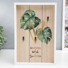 "Крючки декоративные дерево ""Пальмовые листья и сердце"" 30х20,2х3 см"