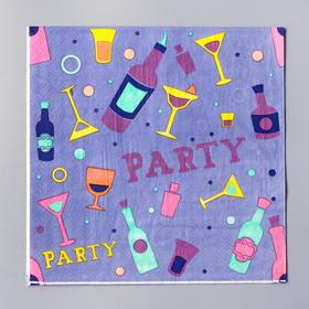 Салфетки бумажные «Вечеринка», 33х33 см, набор 20 шт.