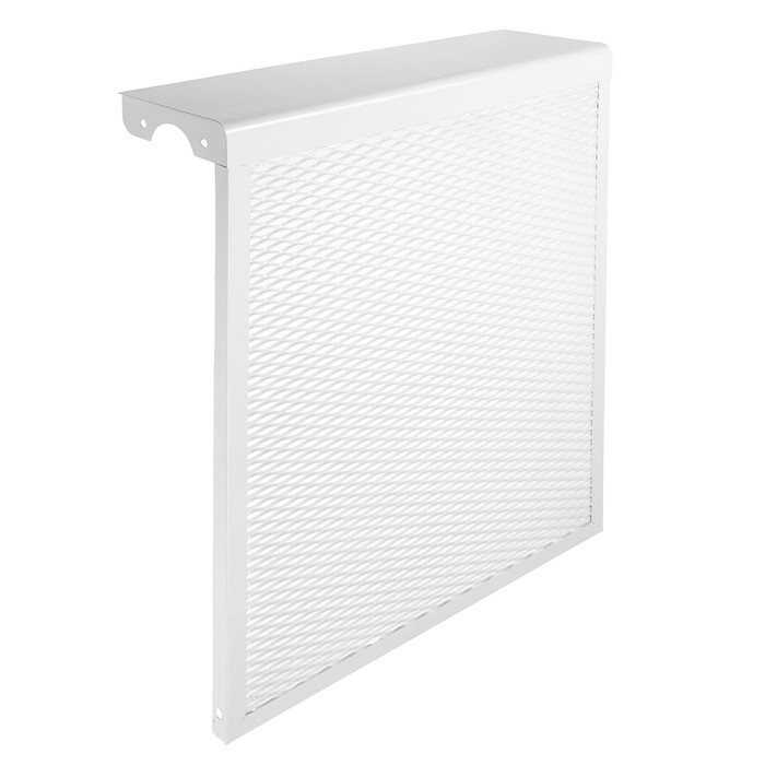 "Экран на чугунный радиатор ""Лидер"", 490х610х150 мм, 5 секций, металлический, белый"