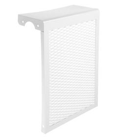 "Экран на чугунный радиатор ""Лидер"", 290х440х150 мм, 3 секции, металлический, белый"