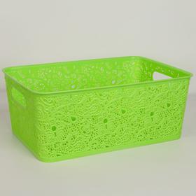 Корзина для хранения «Сказка», цвет салатовый