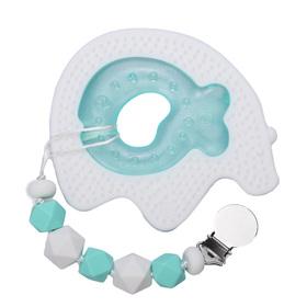 Набор прорезывателей Happy Baby силиконовый с водой и держателем