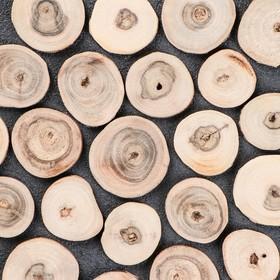 Спил 'Грецкого ореха', круглый, d=3-4 см, h=3,5 мм Ош
