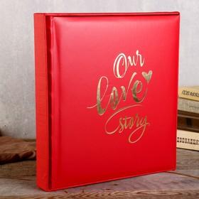 "Фотоальбом  ""Our love story"" 29х32 см. 30 листов"
