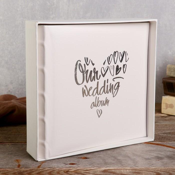 "Фотоальбом   10x15 см., 200 фото, "" Our wedding album"" - фото 835562"