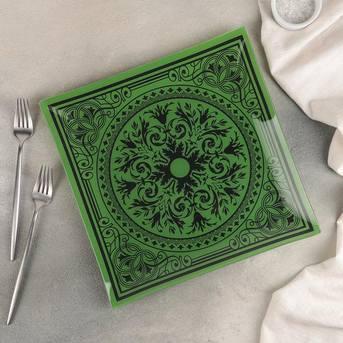 """Тарелка обеденная 30 см """"Эльмира"""" цвет зеленый"""