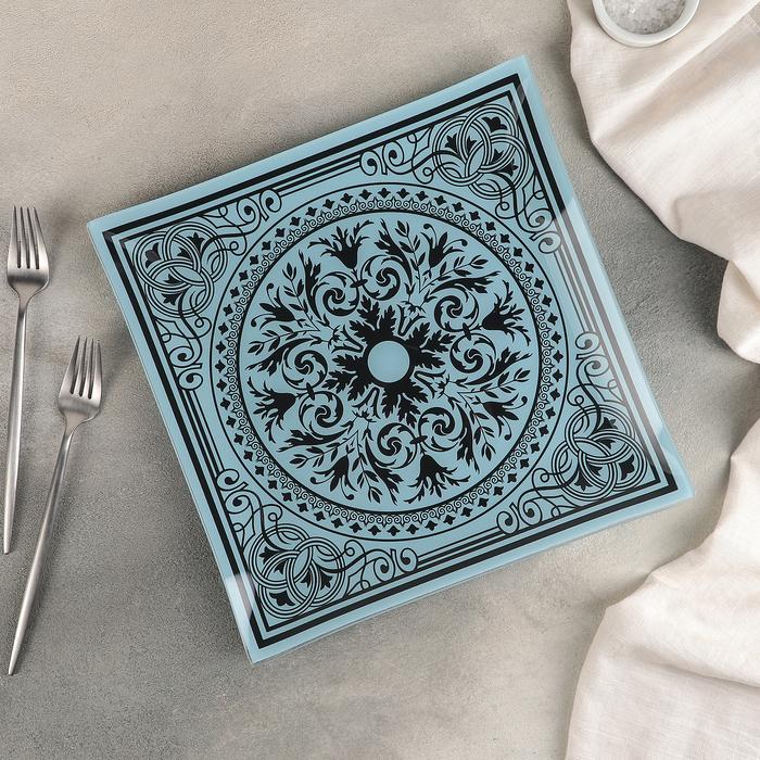 Тарелка обеденная «Эльмира», d=30 см, цвет лазурный - фото 1593292