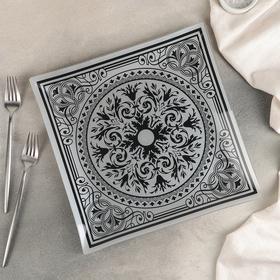 Тарелка обеденная «Эльмира», 30 см, цвет серебро