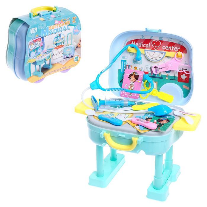 Игровой набор доктора «Скорая помощь», в чемодане - фото 1001534