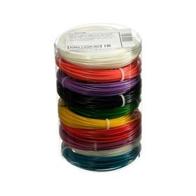 Пластик LuazON ABS-10, для 3Д ручки, 10 цветов по 10 метров, 4 трафарета