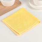 Салфетка из микрофибры для уборки ванной комнаты «Солнечный топаз», 30×32 см