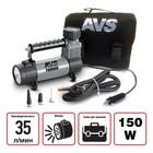 Компрессор автомобильный AVS KS350L, 35 л/мин, 10 Атм, металлический, с фонарем