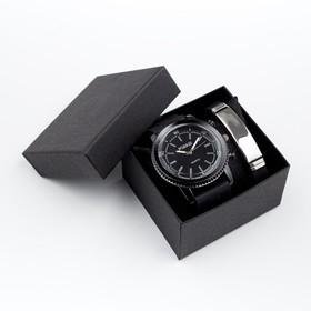 """Подарочный набор 2 в 1 """"Маратон"""": наручные часы и браслет"""
