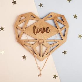 "Wall organizer for jewelry ""Love"" heart, 18 x 20 cm"
