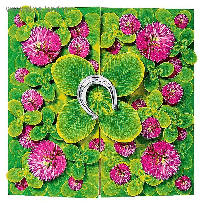 "Набор для открытки ""Счастливый цветок"" бумагопластика"