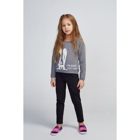 Свитшот для девочки, цвет тёмно-серый, рост 110 см (60)