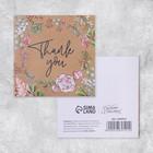 Postcard-Thank you mini, 7 x 7cm