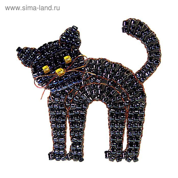 """Набор для плетения """"Чёрный кот"""" из бисера"""