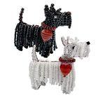 """Набор для творчества """"Терьер Клякса"""": фигурка собаки на проволоке из бисера, 11 х 11 х 0,2 см"""
