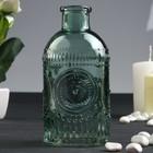 """Bottle for essential oil/decor glass """"Patterned circles"""" olive 250 ml 12,7х6х6 cm"""
