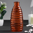 "Bottle for essential oil/glass decor ""Stripes"" of red-orange 250 ml 14,7x5,8x5,8 cm"