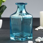"""Bottle for essential oil/decor glass """"Carafe"""" turquoise 200 ml 11,8x5,4x5,4 cm"""