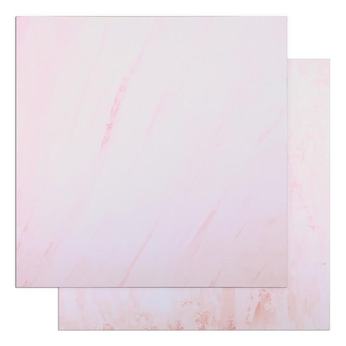 "Фотофон двусторонний ""Разводы - Розовая штукатурка"" 45 х 45 см, переплётный картон, 980 г/м - фото 697550"