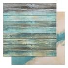 """Фотофон двусторонний """"Синие доски - Синий"""" 45 х 45 см, переплётный картон, 980 г/м - фото 697556"""