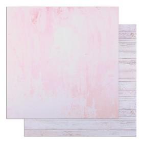 "Фотофон двусторонний ""Розовая штукатурка и доски"" 45 х 45 см, переплётный картон, 980 г/м"