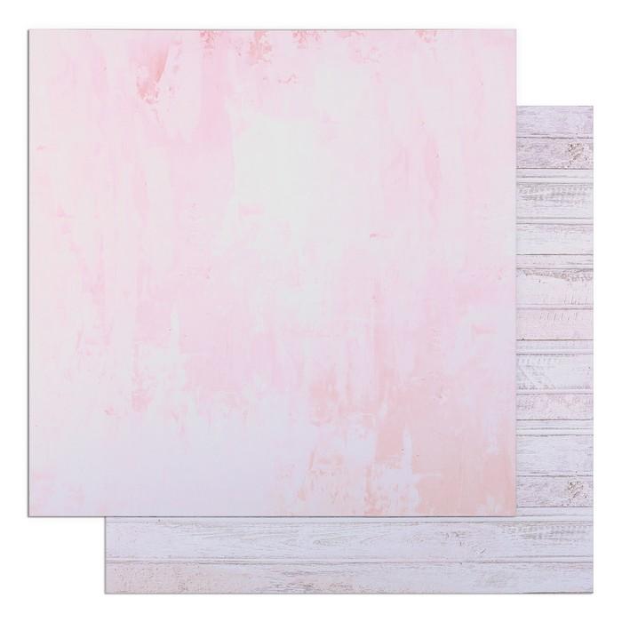 "Фотофон двусторонний ""Розовая штукатурка и доски"" 45 х 45 см, переплётный картон, 980 г/м - фото 697565"