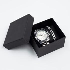 """Подарочный набор 2 в 1 """"Этелберт"""": наручные часы и браслет"""