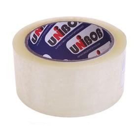 Клейкая лента UNIBOB 48мм*66м 45 мкм, прозрачная, индивидуальная упаковка Ош