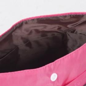 Косметичка дорожная, отдел на кнопке, 7 наружных карманов, цвет малиновый - фото 1765912