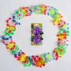 Гавайский набор «Естественная красота», (ожерелье, зажим для волос)