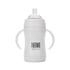 Термобутылочка для кормления Happy Baby, цвет white, 280 мл
