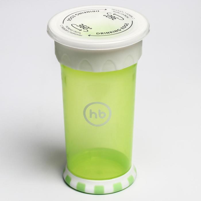 Кружка-поильник Happy Baby, от 9 месяцев, цвет grass, 350 мл
