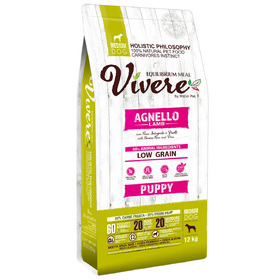 Сухой корм VIVERE для щенков средних пород, ягненок, 12 кг