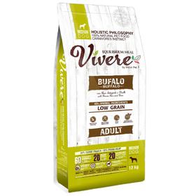 Сухой корм VIVERE для собак средних пород, буйвол, 12 кг