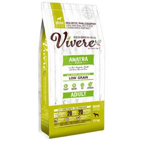 Сухой корм VIVERE для собак средних пород, утка, 12 кг