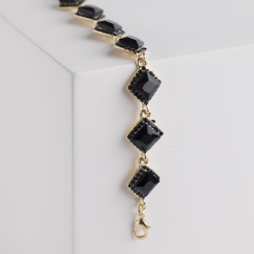 Bracelet with rhinestone Luxury diamonds, black gold