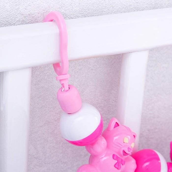 Подвеска на коляску/кроватку «Кошки на ладошке», цвета МИКС